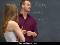Dummy schoolgirl slut bribes her teacher with hardcore fuck