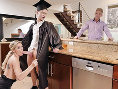 Burning hot milf stepmom's as a gift for graduation and for unforgettable fuck