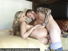 Blonde beauty girl Julia Ann got roughly fucked in tight pussy with huge cock