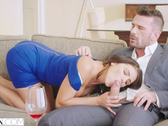 Juicy butt brunette Adriana Chechik excites her boyfriend with blowjob before fucking
