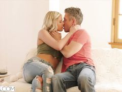 Delicious young blonde girl Brittany Benz got excited with cunnilingus