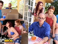 Dirty milf Monique Alexander and her daughter Adria Rae are having wild threesome