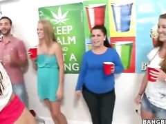 Slutty teen bitches are showing off and hotly shaking their jelly butts on public