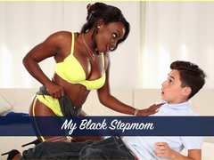 Young handsome guy Juan El Caballo Loco got pleased with awesome blowjob by black milf