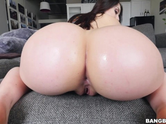 Steaming hot brunette young chick Mandy Muse deepthroats big dick and enjoys anal